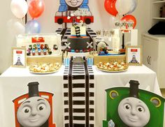 Thomas Train Track Birthday Party