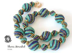 Matching size 11 Delica, 11/0 seed bead and 15/0 seed bead in each of 4 colors