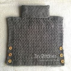 Crochet Cowl Pullover! This amazing little poncho style pullover can be custom…