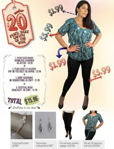 """599fashion.com - Everything $5.99 or Less Check out this weeks """"PLUS SIZE: UNDER $20 Outfit"""", a complete look for under $20.00."""