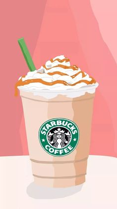 I love starbucks! My first vector selfmade :D Cute Wallpaper For Phone, Emoji Wallpaper, Aesthetic Iphone Wallpaper, Cute Food Wallpaper, Wallpaper Awesome, Aesthetic Wallpapers, Starbucks Art, Starbucks Drinks, Starbucks Background