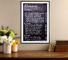 Paris Bistro Menu Framed Print by Rebecca Plotnick