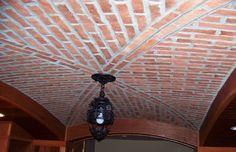 Walls, Ceilings, and Fireplaces – Inglenook Brick Tiles – Brick Pavers Brick Tiles, Brick Pavers, Brick Flooring, Floors, Custom Home Designs, Custom Homes, Brick Archway, Tuscan Style Homes, Thin Brick