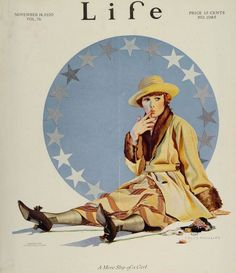 Life Magazine Cover featuring a Coles Phillips girl.