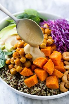 Buddha Bowl Recipe | Vegan Buddha Bowl | Quinoa Bowl | Sweet Potato Recipe | Quinoa Recipe #healthy #cleaneating #quinoa #dinner #dinneratthezoo #chickpeas