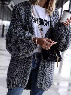 15 Cardigans que desearás usar durante los días fríos Winter Outfits For Teen Girls, Comfy Fall Outfits, Winter Outfits Women, Casual Outfits, Outfit Winter, Spring Outfits, Dress Winter, Dress Summer, Dress Casual
