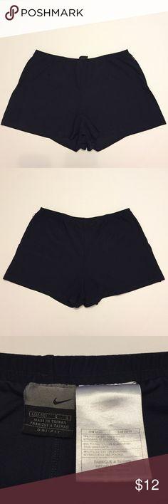 "Nike Dri-Fit navy blue running shorts Navy blue Dri-Fit running shorts • lined • 5"" slit on side of both legs • 11.5"" waist to hem Nike Shorts"