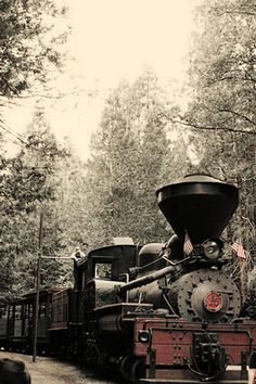 old train pictures | ... whites with a dash of red these are old steam engines really old