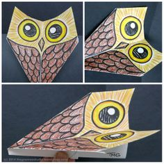 Day 126: Paper Airplane Owl - Created by Tanya Green