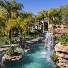 Insane pool with massive waterfalls are featured at one of my Westlake Village listings! 15,000 square foot mansion w/ tennis court, indoor racquetball, theater, and explosive views! $12,500,000 #luxuryrealestate #westlakevillage #thousandoaks #luxurylifestyle #mansion #realestate #realtor #venturacounty #northranch #tennis #view #hometheater #mediterranean #luxury Go Outdoors, The Great Outdoors, Insane Pools, Westlake Village, Cool Pools, Home Theater, Luxury Real Estate, Dream Big, Curb Appeal