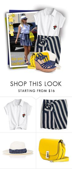 """MADEWELL Striped Wrap-Tie Skirt"" by tasha1973 ❤ liked on Polyvore featuring Madewell, Janessa Leone, Marc Jacobs and Candie's"