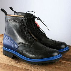 GRENSON – Fred Brogue Boots with Commando Sole