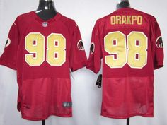 Nike NFL Jerseys Washington Redskins Brian Orakpo  98 Red-80 Anniversary  Jerseys, Washington 5e1b8cd56