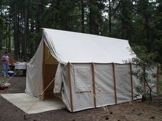 Single Pole Waxed Canvas Tent Outdoors Cool Stuff