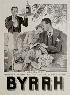 Do you love me more than BYRRH? 1935 // Rue Marcellin Original Vintage French Posters & Prints