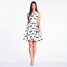 kate spade bow print dress