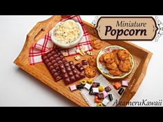 Miniature Popcorn - Polymer clay tutorial - YouTube