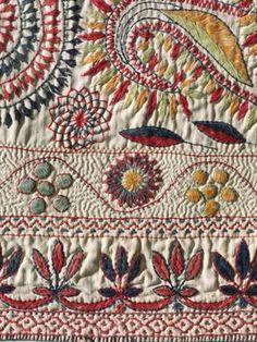 Benghal Kantha textile . . .so pretty!