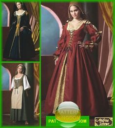Medieval/Renaissance Court/Peasant Dress Patterns  Dress is out of print, but would make a lovely wedding dress.
