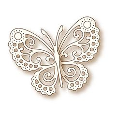 """Wild Rose Studio Specialty Die 2.5""""X3.25"""" Butterfly Lace"""