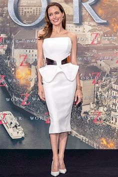 Angelina Jolie total white look