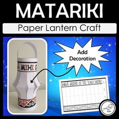 Celebrate the Māori New Year with this fun craft activity. There are 6 different templates for you and your students to select from. Each template has the heading 'Ngā mihi o te Tau Hou' (Happy New Year) and a decorative panel at the base. Students add their