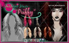 Puffy Instant Hair PSD, $2.99