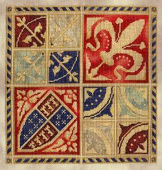 Needlework typical of 16th C. designs from Germany and Italy. El blog de Dmc: Historia del punto de cruz y el bordado