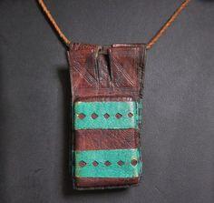 Tuareg Double Leather Amulet Gris-Gris
