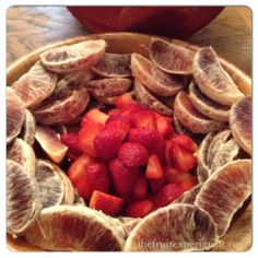 Breakfast ~ four blood oranges and a quart strawberries ‪#‎thefruitexperiment‬ ‪#‎3month‬ ‪#‎rawvegan‬ ‪#‎fruitmeal‬