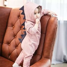 2488b5cec926 Emmababy Baby Boy Girl 3D Dinosaur Costume Solid pink gray Rompers warm  spring  fashion