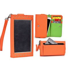 Cooper Cases(tm) Expose Women's Clutch Huawei Ascend D2 / P7 / Y600 Smartphone Wallet Case In Orange / Lime (elegant http://www.smartphonebug.com/accessories/18-top-huawei-ascend-d2-cases-and-covers/