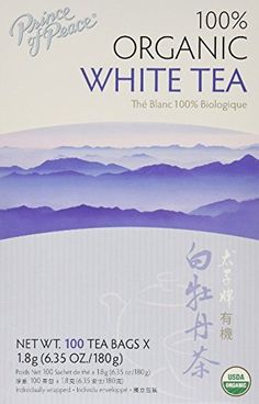 Prince of Peace Organic White Tea 100 Count (Pack of 2) P...