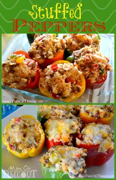 Easy-to-make Stuffed Peppers for an amazing dinner any night of the week from MomOnTimeout.com