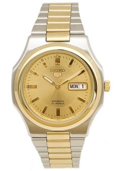 Price:$92.65 #watches Seiko SNKK50K1, This Seiko Automatic Timepiece is a great find. Two tone, with automatic movement and Day/Date.