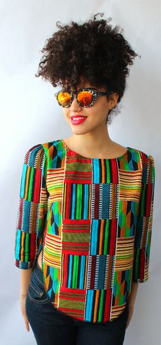 Ankara has become one of the most popular fabrics in Africa. African Print Dresses, African Print Fashion, African Dress, Fashion Prints, African Prints, Ankara Fashion, African Tops, African Women, African Attire