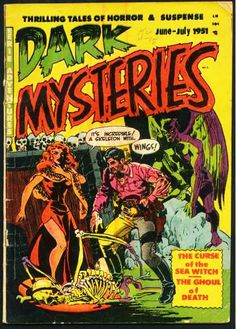 Dark Mysteries, June-July. #vintage comics covers