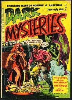 Dark Mysteries, June-July. #vintage comics covers