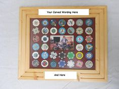 Custom Poker Chip Display Frame fits casino chips by CarvedByHeart