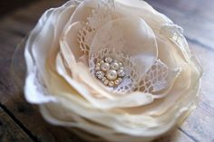 Vintage Style Bridal Lace Flower Wedding by BelleBlooms on Etsy, $35.00