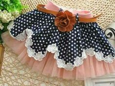 Sewing for kids skirt tutus 70 Super ideas Fashion Kids, Little Girl Fashion, Pet Fashion, Baby Skirt, Baby Dress, Ruffle Skirt, Sewing For Kids, Baby Sewing, Little Girl Dresses
