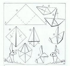 Origami paashaas - Liselotje en het Paasfeest