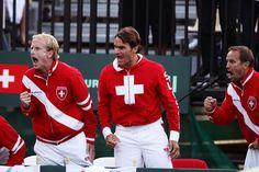 Roger Federer  - Davis Cup - Australia v Switzerland: Day 3