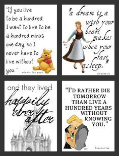 Disney Printables - Pooh, Cinderella, Happily, and Pocahontas