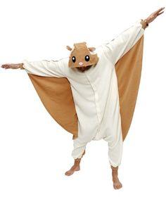 Flying Squirrel Kigurumi - Adult Halloween Costumes Pajama Kgurumi by Sazac,http://www.amazon.com/dp/B002W0ZZPQ/ref=cm_sw_r_pi_dp_io.Jsb0240017HZP