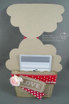 Cupcake Gift Card Holder - Inside by BronJ - Cards and Paper Crafts at Splitcoaststampers