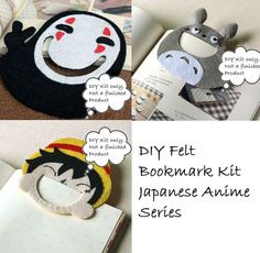 Totoro Spirited Away DIY Felt Kit DIY Bookmark Kit Japanese Anime Craft