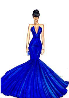 Fashion Ilustration by David Mandeiro Dress Design Drawing, Dress Design Sketches, Dress Drawing, Fashion Design Drawings, Fashion Sketches, Arte Fashion, Moda Fashion, Fashion Models, Ideias Fashion