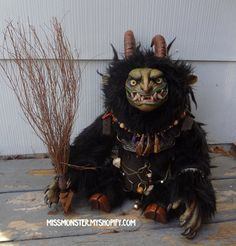 OOAK Krampus Plush by MissMonster - Awesomeness has a price (and it's apparently more than $380 dollars).