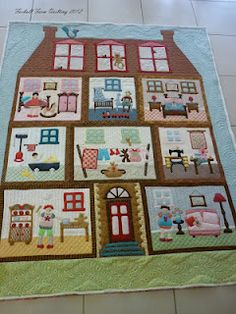 Doll's House- quilt-close ups of quilting